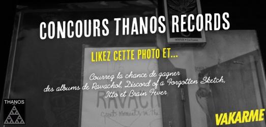 Des albums à gagner, gracieuseté de Thanos Records