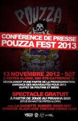 Conférence De Presse Pouzza Fest 2013