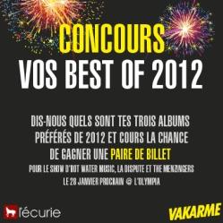Vos best of 2012