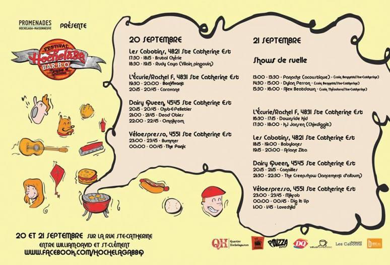 Hochelaga BBQ - Horaire