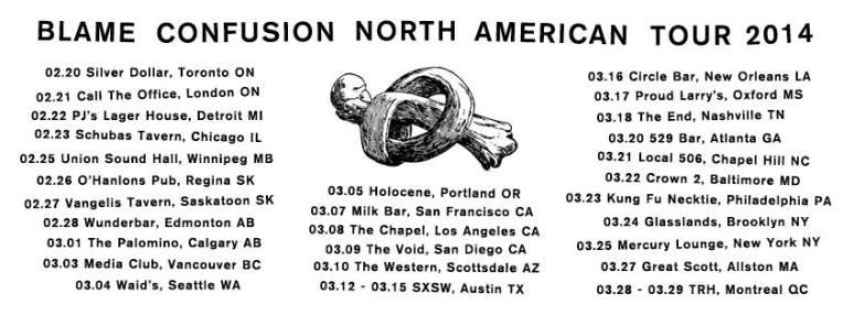 Blame Confusion North American Tour 2014
