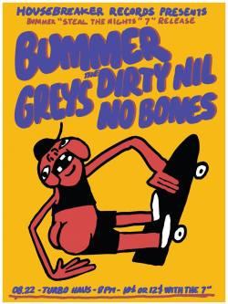 Housebreaker Records présente : Lancement de Steal The Nights de Bummer