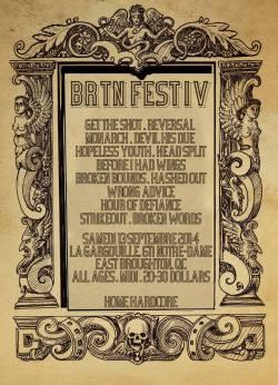 [SHOWS] BRTN FEST IV – Annonce de la programmation 2014