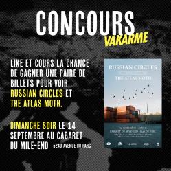 [CONCOURS] Russian Circles et The Atlas Moth ce dimanche le 14 septembre au Cabaret du Mile-End