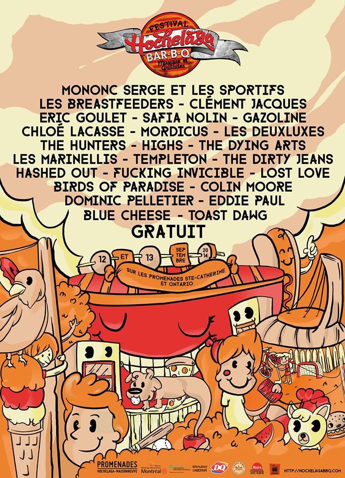 Hochelaga BBQ 2e Édition avec une panoplie de groupes, 12 et 13 septembre GRATUIT!